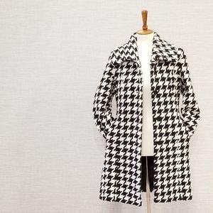 Calvin Klein Houndstooth Wool Coat